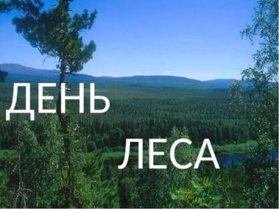 Экологический праздник «Российские дни леса»