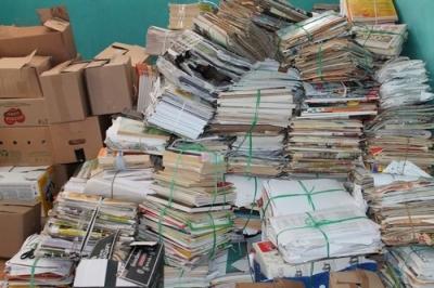 Всю ненужную бумагу в детский сад принесём, лес зеленый сбережём!